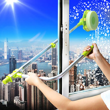 Tall Building Telescopic U Shape Glass Cleaner Window Dust Remover Cleaning Tool