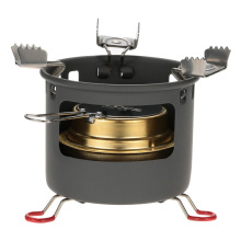 ALOCS Camping Outdoor Spirit Alcohol Burner Camping Stove Alcohol Stove Bracket Support Set