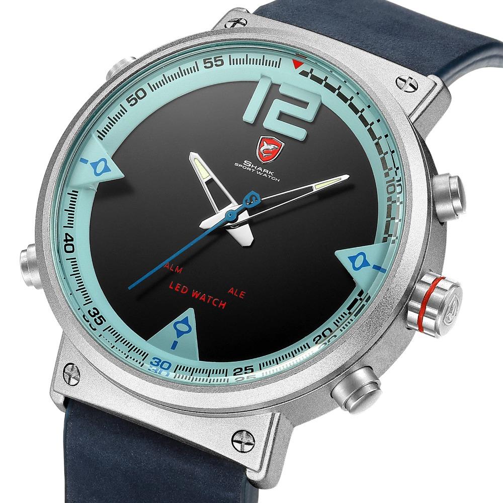 HTB1RVl0db I8KJjy1Xaq6zsxpXal - Bluegray Carpet Shark Sport Watch - Blue SH547