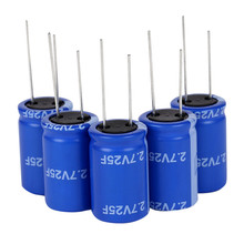 5pcs Fala capacitor super capacitor 2.7V 25F new tax control machine register power capacitor to improve special white screen