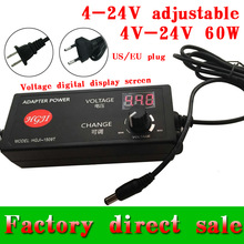 adjustable 4V-24V adapter with display screen of voltage 17V/16/22v/21v/14v/13.6V8V5A 60W power supply adatper dc5.5*2.5/2.1mm