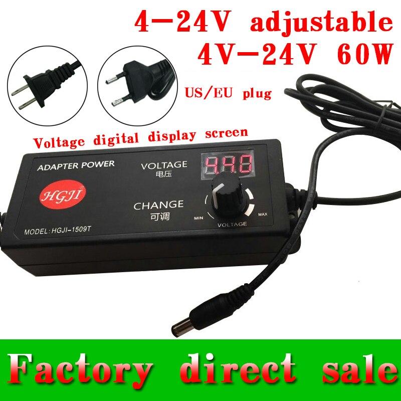 adjustable 4V-24V adapter with display screen of voltage 17V/16/22v/21v/14v/13.6V8V5A 60W power supply adatper dc5.5*2.5/2.1mm<br><br>Aliexpress
