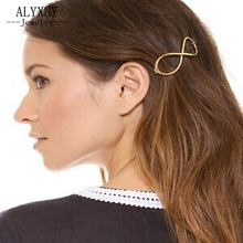 New fashion hairwear Infinity alloy hairpins gift for women ladies' H300(China)
