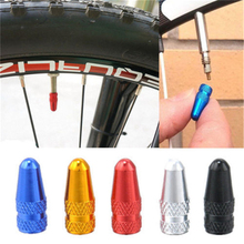 5PCS aluminum material bicycle Presta Wheel Rim Tyre Stem Air Valve Caps Dust Cover