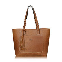 Buy Women PU Leather Handbags Bolsos Mujer De Marca Famosa Female Vintage Bag Women Shoulder Bag Retro Large Capacity Tote Bags for $18.70 in AliExpress store