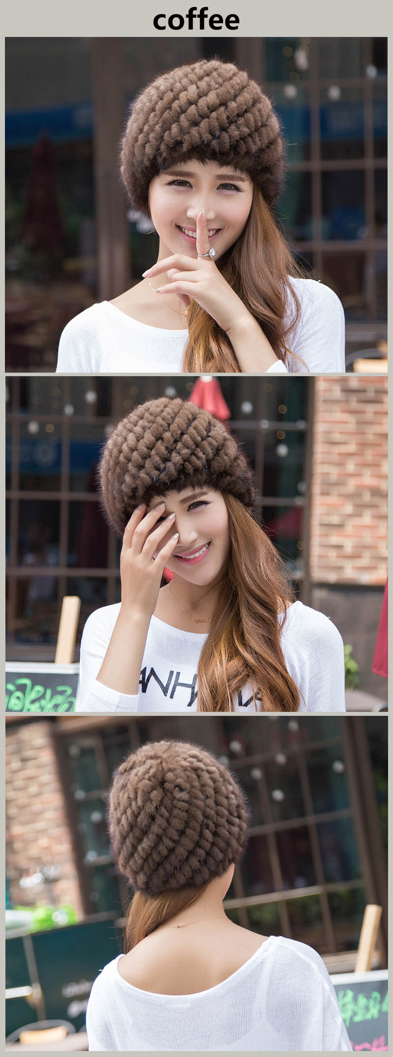 mink hat coffee colors