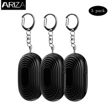 Buy Ariza 3pcs personal alarm self defense panic button alarm emergency security alarm LED flashlight car keychain for $14.50 in AliExpress store