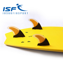 FCS Orange carbonfiber surfboard fins quilhas de prancha de surf fin longboard paddle surfboard four Quad future center fins(China)