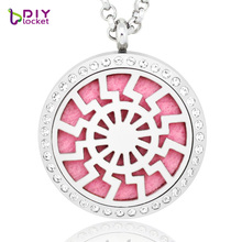 2017 Hot! Hollow special design Rhinestones aromatherapy necklace diffuser pendant popular perfume necklace pendants