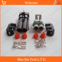 Sample,1 set 2Pin car connector,6.3mm car radiator plug connector,Car Electronic fan plug connector for Buick,Chevrolet,SRV etc.