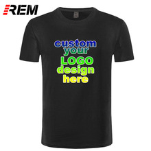 REM Custom Printed Personalized T-Shirts designer logo mens t shirt Advertising brand new white tshirt short-sleeve blank tees