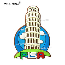 OEM/ODM Customized Promotional Gifts With Your Logo PVC Fridge Magnets Tourist Souvenir Bissell Leaning Tower MOQ1000PCS(RC-IT)