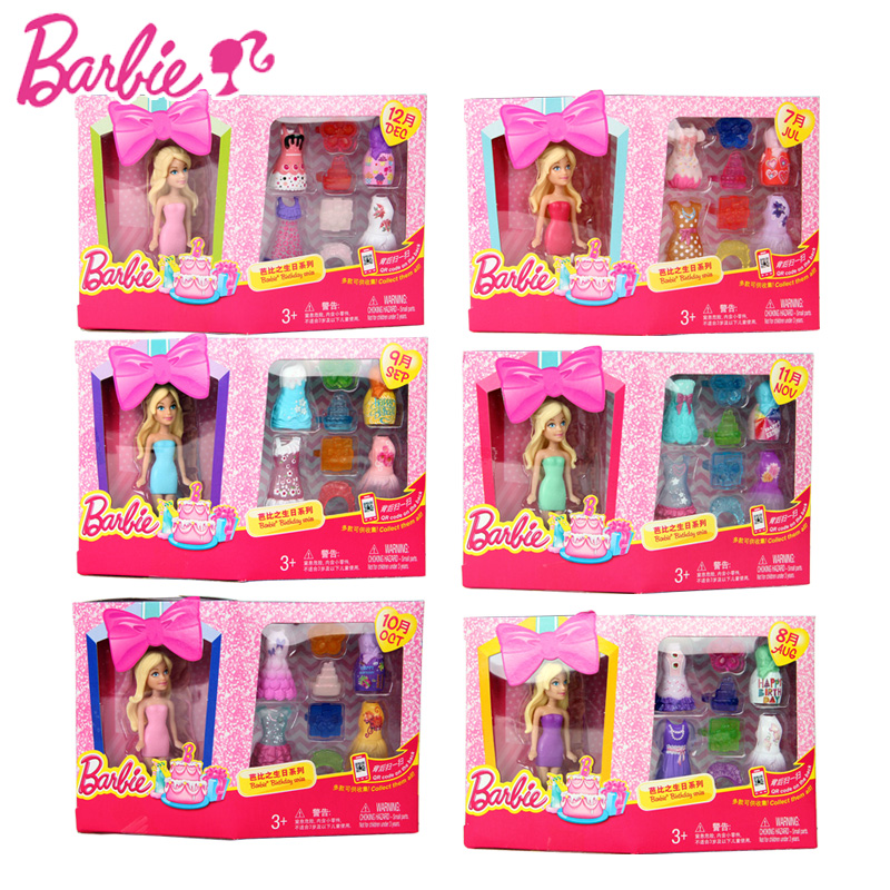 Barbie doll Zodiac And Birthday Series 1 Pcs Barbies Baby Toys With Dress Clothes American Girls Boneca juguetes DGW30<br><br>Aliexpress
