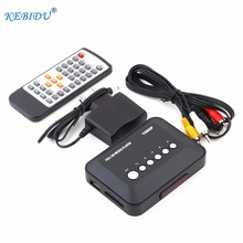 kebidumei USB 2.0 Media player 1080P HD SD/MMC TV Videos SD MMC RMVB MP3 Multi TV USB HDMI Media Player Box with remote control(China)
