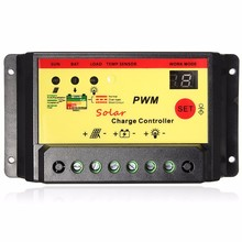 Intelligent 30A PWM Solar Panel Charge Controller 12V 24V Auto Battery Regulator With User manual High Standard