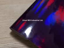 Free Ship Purple Holographic Chrome Vinyl Film Hologram Stickers With Air Release Vehicle Styling Laser Chrome Size 1.52*20M