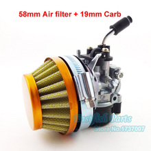 Racing 19mm Carb Carburetor Carby & 58mm Air Filter For Motorcycle 50cc 60cc 66cc 80cc 2 stroke Gas Motorized Bike Bicycle Crass