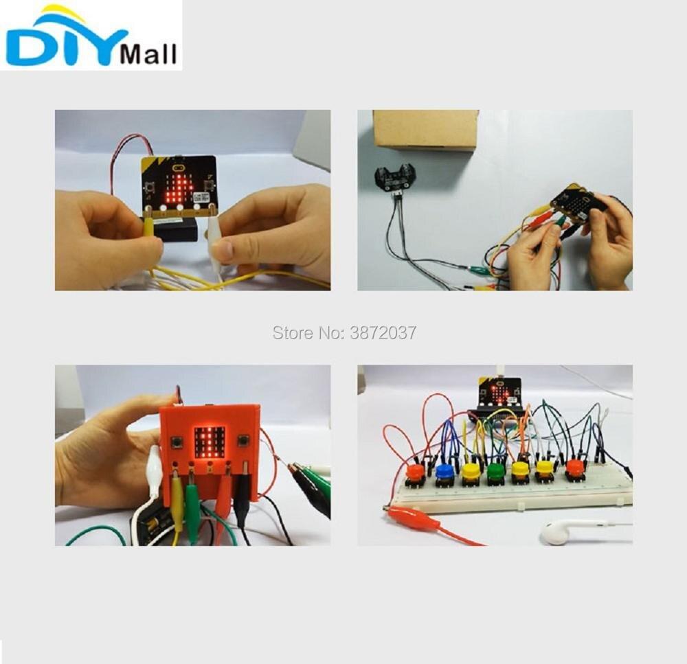 Alligator Clip Wire Battery Box Holder Protective Case Cover for BBC Micro:bit Microbit
