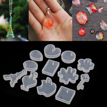 12pcs silicone mold DIY resin jewelry pendant necklace pendant bracelet charms mold resin molds for jewelry making(China)