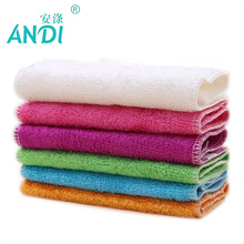 ANDI 5pcs 100% Pure Bamboo Fibre Dish Cloth Oilproof Non-sticking Double-deck Waste-absorbing Thickening Kitchen Cleaning Cloth(China)