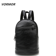 VORMOR Multifunction Leather Small Backpack Bag Waterproof Fashion Chest Pack Bags For Men Women