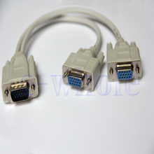 MLLSE VGA SVGA Y Splitter Projector Monitor Video Cable 1 To 2 Fit For PC Laptop A1965(China)