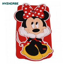 Case For SAMSUNG GALAXY TAB 4 7.0 T230 T231 T235 3D Cartoon Cute Hands On Face Minnie Shape Tablet Case Soft Silicon Back Cover
