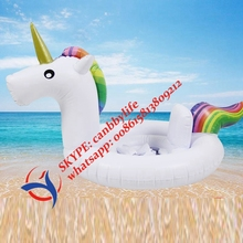 FREE SHIPPING Hot Sale Unicorn Pool Seat Inflatable Unicorn Swimming Ring Baby Infant Water Pool Raft Boat(China)