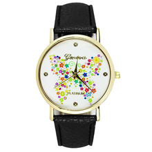 Fashion Casual Geneva Women Ladies Butterfly Pattern Watch Dial Leather Strap Watch Analog Quartz Feminino Big Discount
