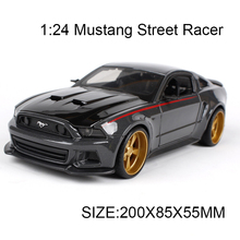 1:24 Diecast Model Car Mustang Street Racer Alloy Vehicle Car Model Alloy Model Gift Kids Toys simulation model For Collection(China)