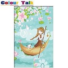 DIY Oil Painting By Numbers on Canvas for Kids Pictures for Living Room HandPainted Coloring By Numbers Home Decoration P-0451