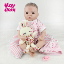 48cm Soft Silicone Dolls Be Reborn Baby Collection Doll Girl Handmade Painted Hair Lifelike Bebe juguetes Babies Toys brinquedos