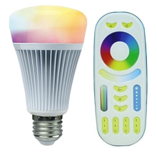 Mi.Light E27 8W Smart RGBW RGBWW LED Bulb 16 million color Dimmable light Lamp 85-265V +2.4G RF Remote Controller - Elite Lighting Online store