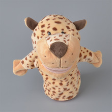 NICI Light Yellow Color Leopard Plush Hand Puppet, 25cm Baby Kids Plush Toy Gift Free Shipping