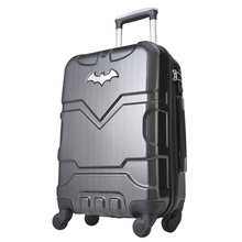 "20""24"" inch  Batman ABS  Luggage boarding password hard box rolling trolley Suitcase for hero fans"