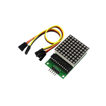MAX7219 Dot LED Matrix Module MCU LED Display Control Module for arduino Diy Kit(China)