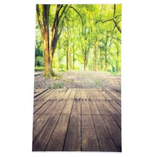 3x5FT Forest Wood Floor Nature Vinyl Photography Background Backdrop Studio Prop
