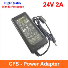 High Quality AC DC 24V 2A Power Supply Adapter 24V 48W Adaptor Charger With IC Protection(China)