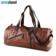 Large Capacity Outdoor Men's Sports Bag PU Leather Tote Duffel Bag Multifunction Portable Travel Sports Gym Fitness Bag