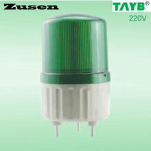 Zusen NEW TB1081J 220v Alarm rolling Signal Warn Warning Siren green led Lamp with buzzer(China)