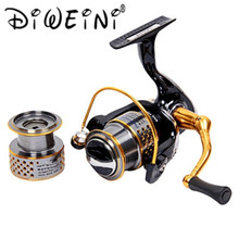 F2000 5:2:1 8 + 1 Ball bearings Gear Ratio Spinning Fishing Reel for Casting Lure Tackle Line(China)
