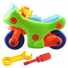 New Arrival DIY Creative Disassembly Motorcycle Toy Children Assembled Model Educational Toys Color Random