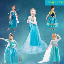 Summer Little Girl Dress Clothes Kids Halloween Cosplay Costume Princess Dress Festival Holiday Clothing for Children Meninas(China)