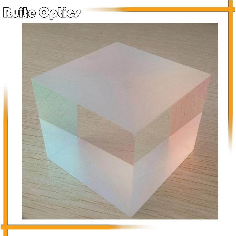 1pc Defective 6x6x5cm  Optical Glass Cube Prism Physics Teaching Light Spectrum X-Cube Prisma<br>