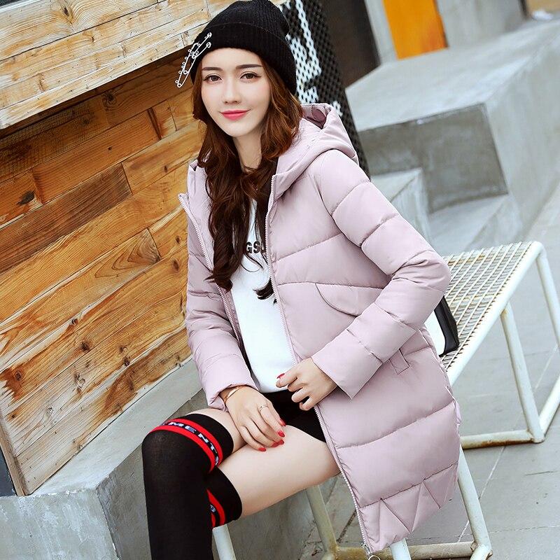 2017 New Women Winter Jacket Women Fashion Padded Coat Hooded Overcoat Women Parka Wadded Casaco Feminino Female Jacket Coat 829Îäåæäà è àêñåññóàðû<br><br>