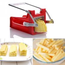 1pcs New Stainless Steel French Fry Potato Vegetable Cutter Maker Slicer Chopper Kitchen Vegetable Chips Slicers +2 Blades