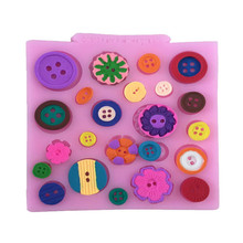Various Button Shape Silicone Cake Mold, Baking Mould For Candy Cookie Chocolate Sugar Craft Lace Fondant Cake Decorating Tools