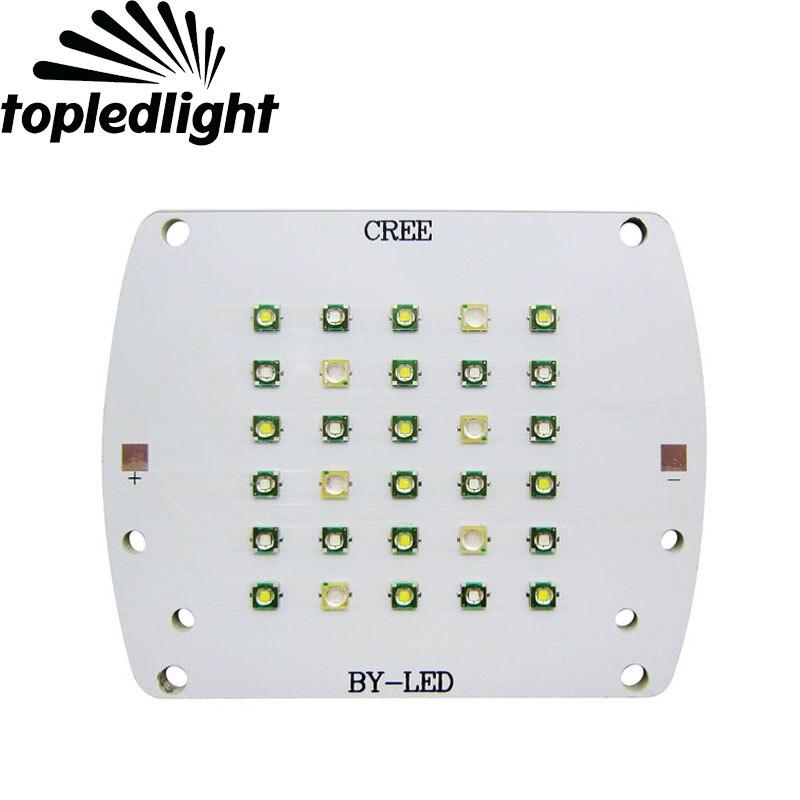 Topledlight Cree XPE XP-E 30Leds Led Emitter Bulb Light Royal Blue 450NM White 7000K Epileds UV 430NM Purple DIY Coral Lamp<br>