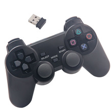 2.4Ghz wireless game controller PC gamepad computer joystick with double vibration for PS3 and Win7 Win8 Win10