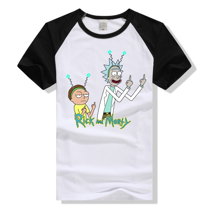 Rick and Morty Middle Finger T-shirt
